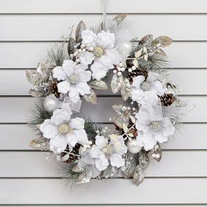 250168WR-magnolia-ribbon-wreath