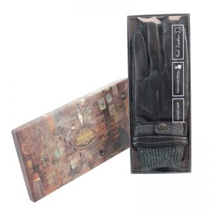 Black mens gloves touch screen