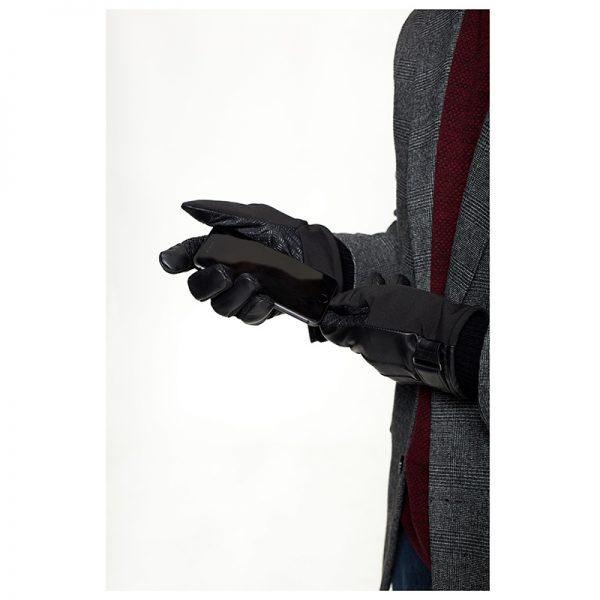 Lifestyle Mens Black Gloves