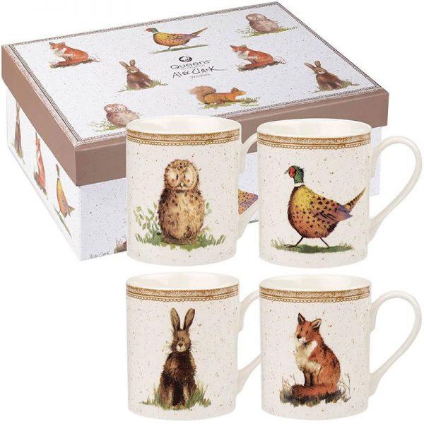 Alex-Clark-Wildlife-4-mug-set