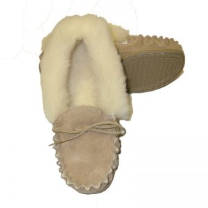 Daisy Beige hard sole slipper