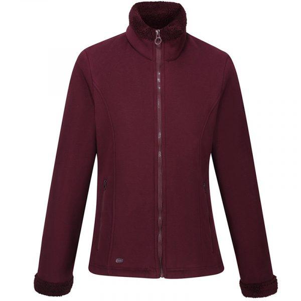 Regatta-Brandall-Womens-Fleece-Dark-Burgundy