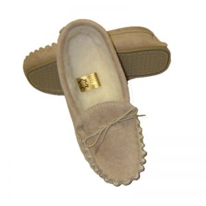 Tyler beige mens slippers