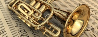 brass-lacquered-trumpet-laying-on-music-notes