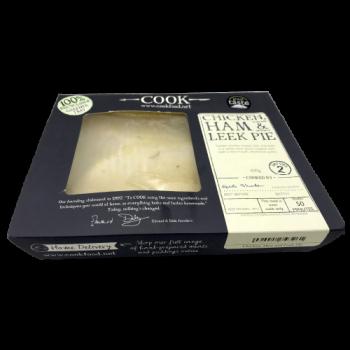 chicken ham and leek pie pack