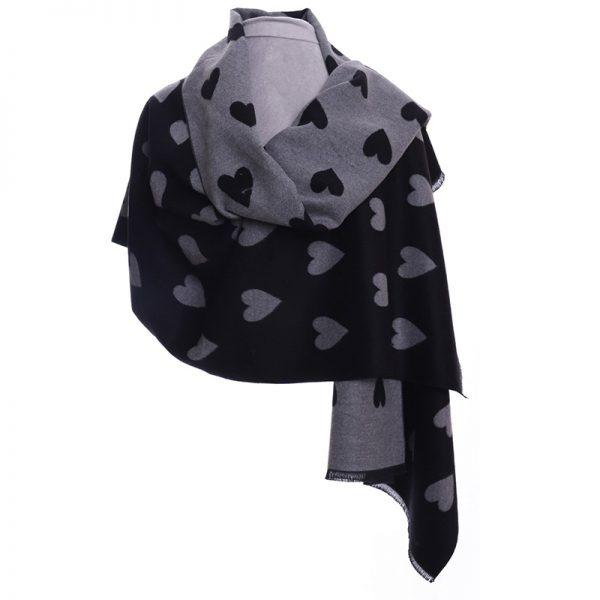 heart-scarf-black-grey