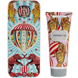 vintage & co hand cream tin circus